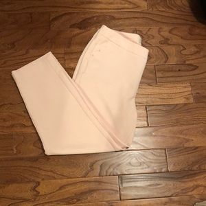 Blush colored ankle dress pants